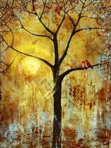 Red Birds Tree by Blenda Tyvoll