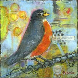Robin Still Life by Blenda Tyvoll