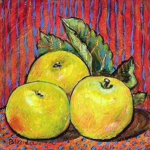 Three Yellow Apples by Blenda Tyvoll