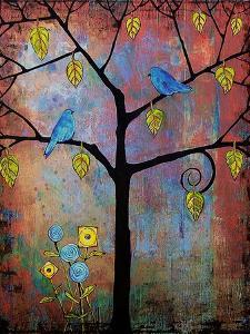 Tree Art Feathered Friends by Blenda Tyvoll