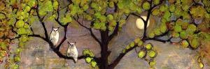 Two Owls in the Moon Light by Blenda Tyvoll