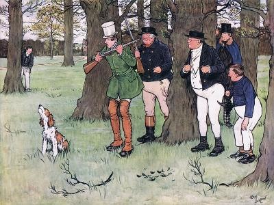 """""""Bless My Soul!"""" Said Mr Winkle, """"I Declare I Forgot the Cap""""-Cecil Aldin-Giclee Print"""