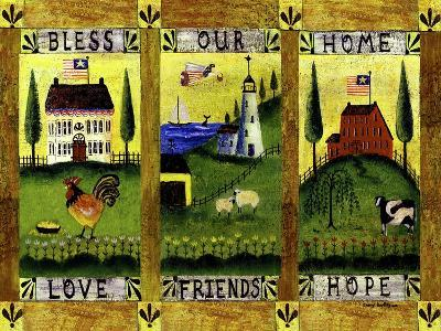 Bless our Home Love Friends Hope Lang-Cheryl Bartley-Giclee Print