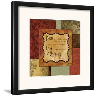 Bless this Home-Elizabeth Medley-Framed Art Print