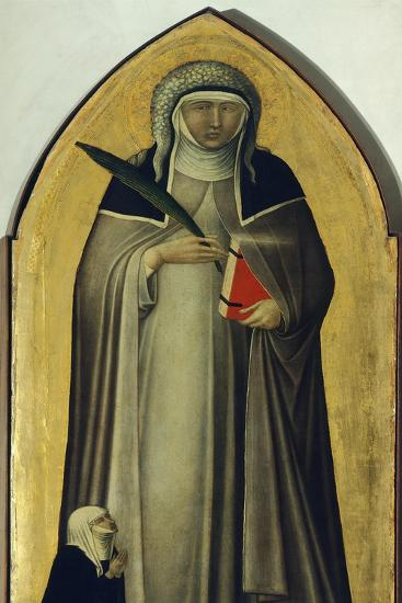Blessed Humility, Detail from Altarpiece of Blessed Humility-Pietro Lorenzetti-Giclee Print