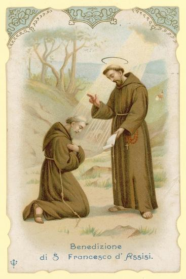 Blessing of St Francis of Assisi--Giclee Print