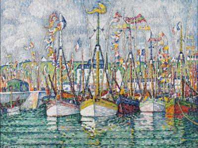 Blessing of the Tuna Fleet at Groix, 1923-Paul Signac-Giclee Print