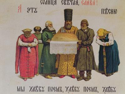 Blessing the Bread and Salt, Late 19th Century--Giclee Print