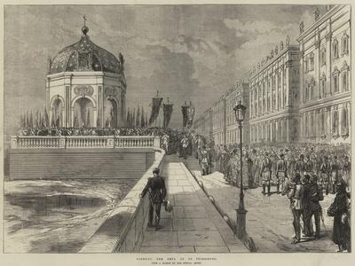 Blessing the Neva at St Petersburg--Giclee Print