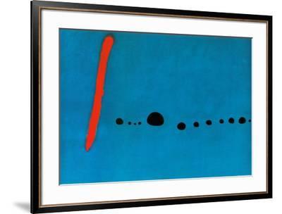 Bleu II-Joan Miro-Framed Art Print