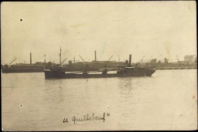 Blick Auf Den Tanker Le Quillebeuf, Hafen, Kräne--Giclee Print