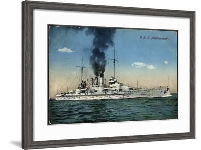 Blick Aufs Deutsche Großlinienschiff Ostfriesland--Framed Giclee Print