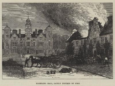 Blickling Hall, Lately Injured by Fire--Giclee Print