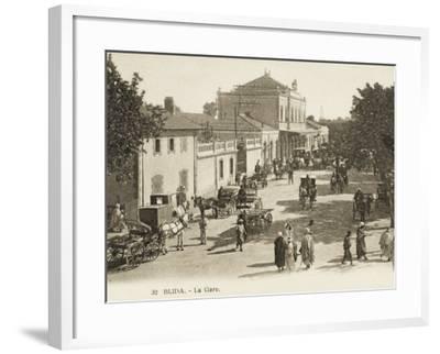 Blida, Algeria - the Railway Station--Framed Photographic Print