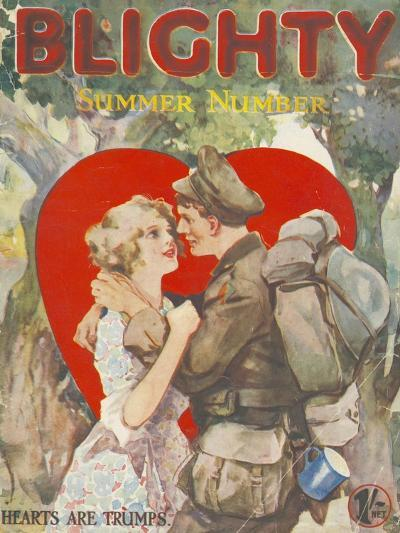 Blighty, First Issue WWI Uniforms Magazine, UK, 1918--Giclee Print
