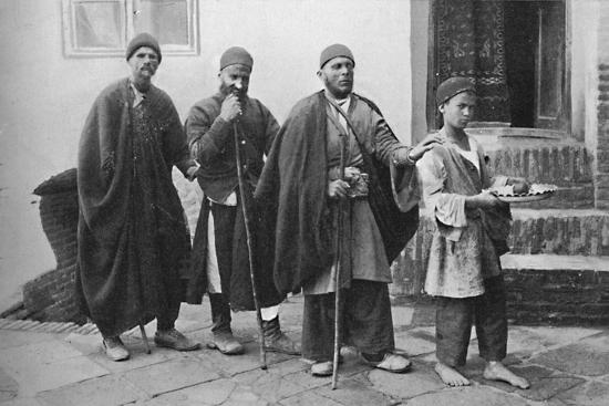 Blind beggars of Tehran, Persia, 1902-Unknown-Photographic Print