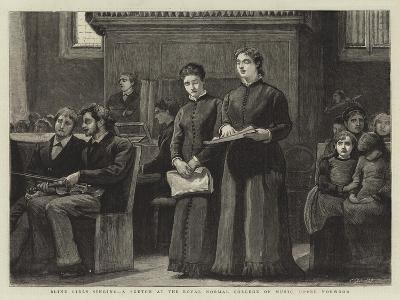 Blind Girls Singing, a Sketch at the Royal Normal College of Music, Upper Norwood-Robert Walker Macbeth-Giclee Print