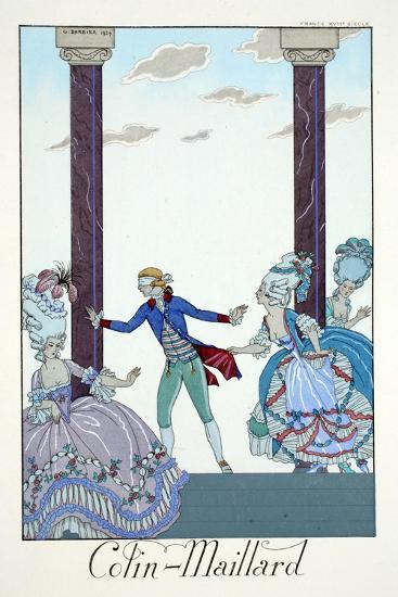 Blind Man's Bluff, from 'Falbalas and Fanfreluches, Almanach des Modes Présentes, Passées et…-Georges Barbier-Giclee Print
