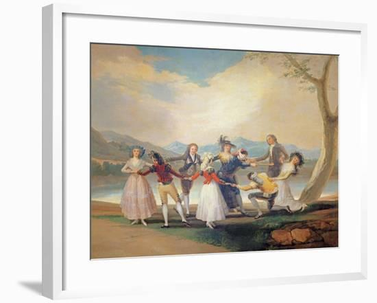 Blind Man's Buff, 1788-9-Francisco de Goya-Framed Giclee Print
