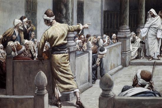 Blind Man Tells His Story to the Jews-James Jacques Joseph Tissot-Giclee Print