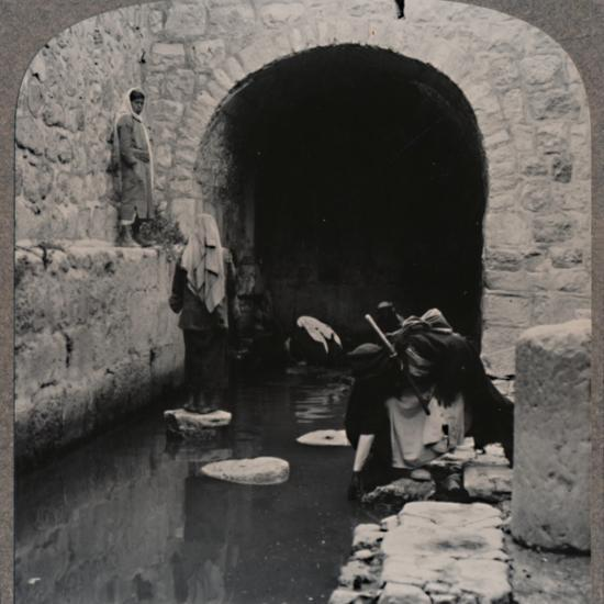 'Blind men washing eyes in the Pool of Siloam', c1900-Unknown-Photographic Print
