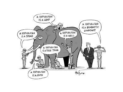 Blind Republicans - Cartoon-Kaamran Hafeez-Premium Giclee Print