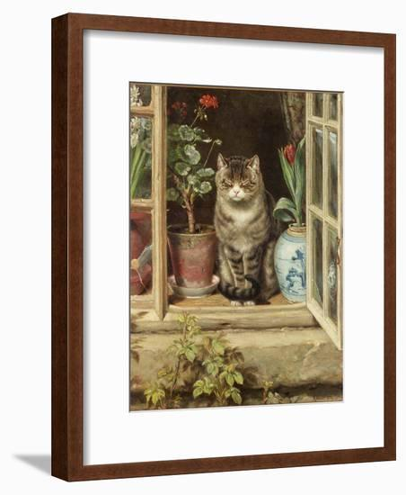 Blinking in the Sun, 1881-Ralph Hedley-Framed Giclee Print