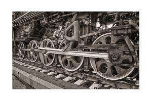 Old Steam Locomotive Wheels by blinow61