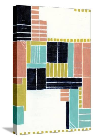 Blithe Puzzle II-Grace Popp-Stretched Canvas Print