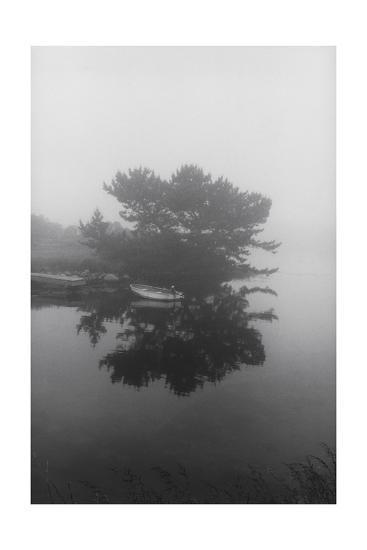 Block Island Boat Trees-Henri Silberman-Photographic Print