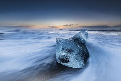 Block Of Ice In The Arctic Ocean Diamond Beach Iceland