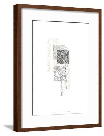 Block Print Composition IV-June Erica Vess-Framed Art Print