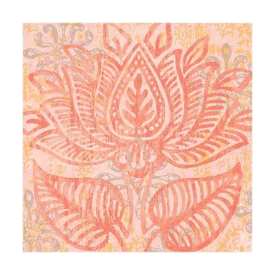 Block Print Paisley II-Leslie Mark-Art Print