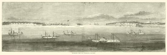 Blockading Fleet Off Wilmington, Old Inlet, October 1864--Giclee Print