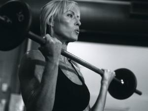 Blond Woman Weight Training