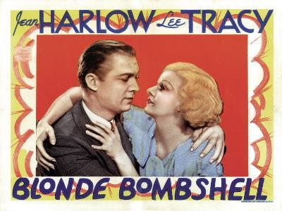 Blonde Bombshell, Lee Tracy, Jean Harlow 1933--Photo