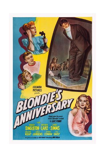 Blonde's Anniversary--Giclee Print