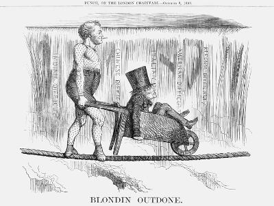 Blondin Outdone, 1859--Giclee Print