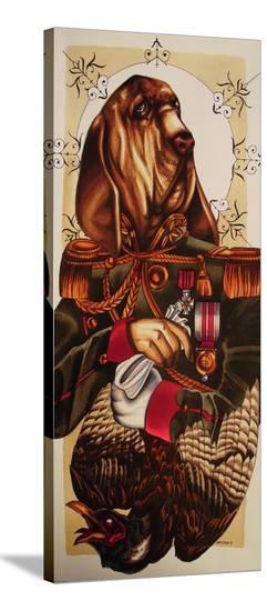 Blood Hound-Alex Mister P-Stretched Canvas Print