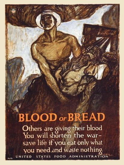Blood or Bread-Henry Raleigh-Art Print