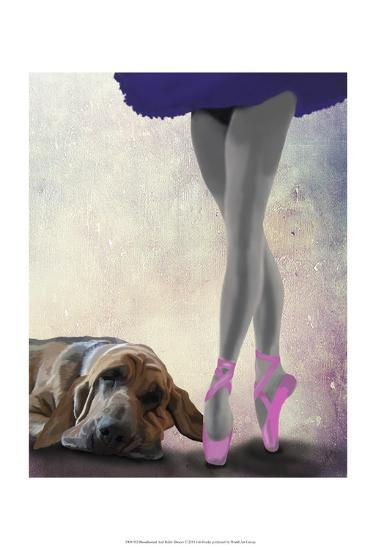 Bloodhound And Ballet Dancer-Fab Funky-Art Print