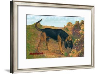 Bloodhound Champion--Framed Art Print