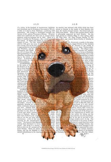 Bloodhound Puppy-Fab Funky-Art Print