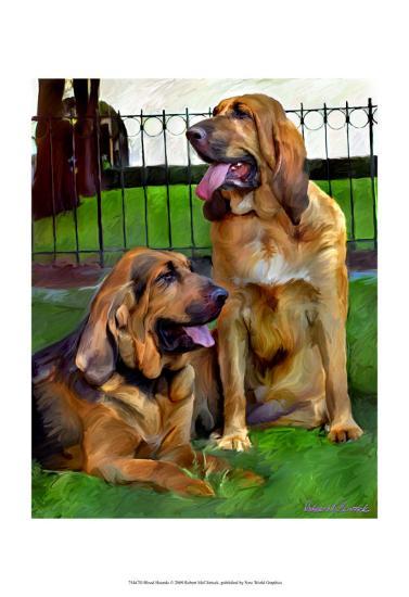 Bloodhounds-Robert Mcclintock-Art Print