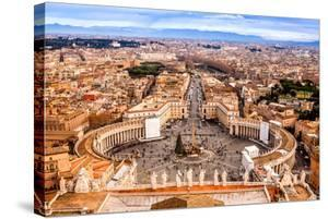 Rome, Italy. Famous Saint Peter'S Square In Vatican And Aerial View Of The City by bloodua