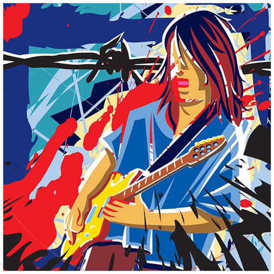Bloody Blues- Ray Lengele-Art Print