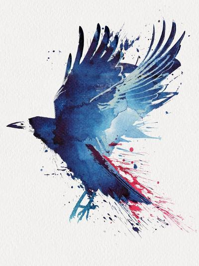 Bloody Crow-Robert Farkas-Art Print