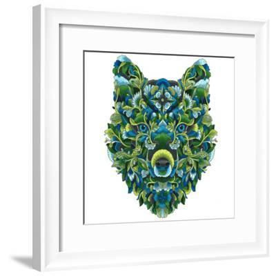 Blooming Animals Wolf - Color-Filippo Cardu-Framed Giclee Print