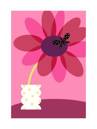 Blooming Flower in Vase--Art Print