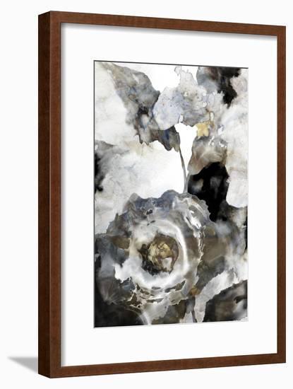 Blooming Ink Floral I-PI Studio-Framed Art Print